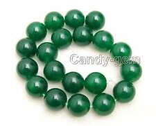 SALE Big 20mm Round Green jade Loose Beads strand 15'' for jewelry making-los744