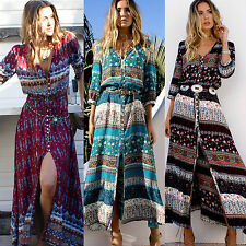fashion Women Maxi BOHO Summer Long Evening Party Dress Beach Dress Sundress