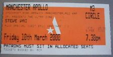 STEVE VAI MANCHESTER APOLLO TICKET STUB MARCH 10 2000 UK