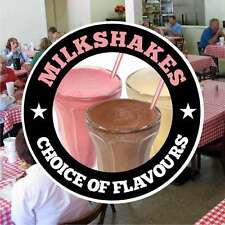 Milkshakes Catering Sign Window Cafe Restaurant Stickers Graphics Decal