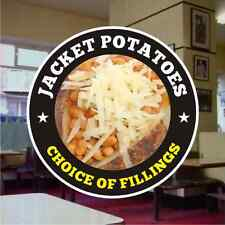 Jacket Baked Potatoes Catering Sign Window Restaurant Stickers Graphics Decal