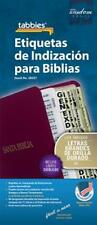 Large Print Spanish Bible Indexing Tabs: Bible Indexing Tabs [With Booklet] (Mix