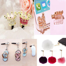 Cute Crystal 3.5mm Anti Dust Earphone Jack Plug Stopper Cap for Smart Cell Phone