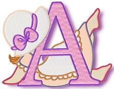 SUNBONNET ALPHABET 30 MACHINE EMBROIDERY DESIGNS CD