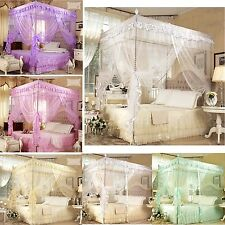 Princess 4 Corner Post Bed Canopy Mosquito Netting Bed Twin Full Queen King Size
