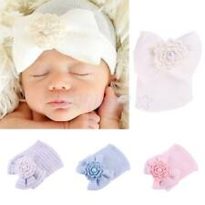 Newborn Baby Bowknot Beanie Hat Soft Cotton Hospital Cap for 0-6 Months