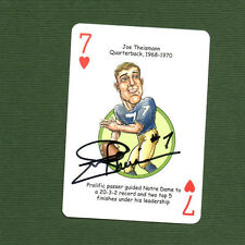 Joe Theismann RARE signed autographed Notre Dame Fighting Irish playing card c