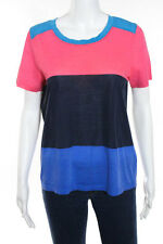 Marc By Marc Jacobs Multicolor Cotton Color Blocked Short Sleeve Tee Size Large