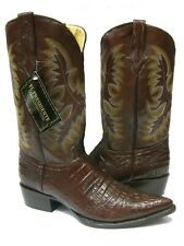 Men's Brown Hanmade Leather Crocodile Alligator Belly Western Cowboy Boots