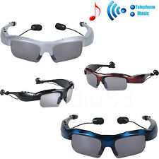 Wireless Bluetooth Sunglasses Headset Earphone With MIC For iPhone Samsung Phone