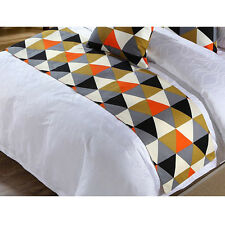 New Bed Runner Modern Geometric Home Hotel Bed Flag Couch Cover Pillowcase Decor
