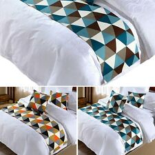 Newly Bed Runner Geometric Home Hotel Bed Flag Protective Cover Cloth Pillowcase