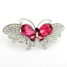 Women Butterfly Hair Clip vogue Crystal Rhinestone Barrette Bridal Gifts