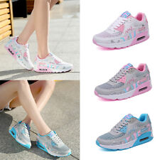 Women Air Cushion Breathable Sneaker Lace Up Sports Shoes Running Shoes