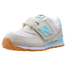 New Balance Kv574 Kids Trainers Grey Turquoise New Shoes