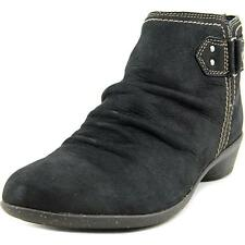 Cobb Hill Nicole Women  Round Toe Leather Black Ankle Boot