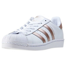 adidas Superstar Womens Trainers White Gold New Shoes