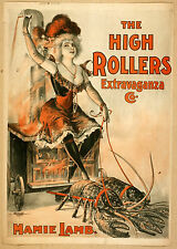 Photo Print Vintage Poster: Stage Theatre Flyer The High Rollers 03