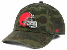 CLEVELAND BROWNS NFL CAMO GREEN '47 BRAND TEAM LOGO FITTED FRANCHISE HAT/CAP NWT