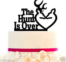 Wedding Cake Topper The Hunt is Over, Removable spikes and Base