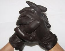 REAL LEATHER WOMEN'S GLOVES MANY COLOURS SIZE: M XL
