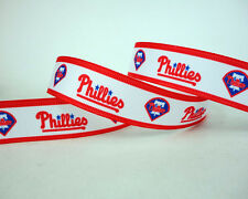 "7/8"" PHILADELPHIA PHILLIES INSPIRED GROSGRAIN RIBBON HAIR BOWS PARTY DECORATIONS"