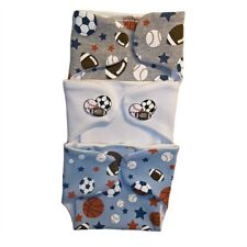 Baby Boys' Sports Balls Diaper Covers 3 Pack - 4 Preemie and Newborn Sizes!