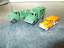 3 LESNEY MATCHBOX TRUCKS