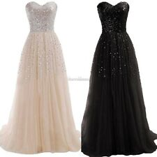 New Women Sexy Strapless Sequins Cocktail Party Ball Gown Evening Long SH01