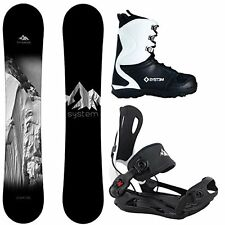 2017 System Timeless w/ MTN Rear Entry Bindings Men's Complete Snowboard Package