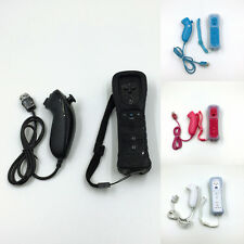 2 in 1 Remote Controller Built in Motion Plus & Nunchuck for Nintendo Wii & Case