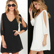 Fashion. Women Summer Casual Long Sleeve Evening Party Cocktail Short Mini Dress