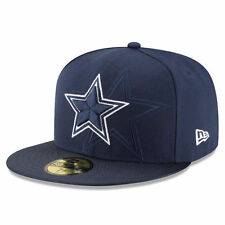 DALLAS COWBOYS NFL OFFICIAL SIDELINE NEW ERA 59FIFTY NAVY FITTED HAT/CAP NWT