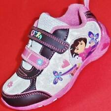 Girls Toddler Pink/Brown DORA the EXPLORER & BOOTS Light Up Sneakers/Shoes NEW