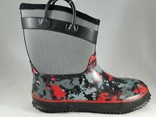 Boy's/Girl's Youth WESTERN CHIEF Gray Insulated Rubber Snow Rain Boots NEW