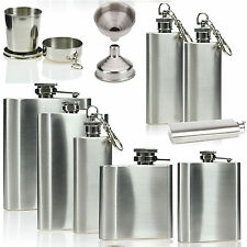 2 4 6 8 oz Portable Stainless Steel Hip Flask Whisky Liquor Vodka Holder Cup
