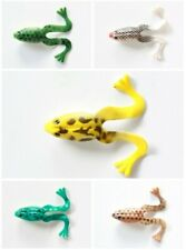 """5 NEW Soft Plastic Frog Lure Bait 10cm 4"""" Fishing Tackle 5 Colors"""