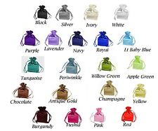 """SATIN bags 4 each 4"""" x 6"""" draw string bag multi color wedding jewelry shower"""