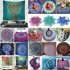 Indian Mandala Tapestry Hippie Wall Hanging Bohemian Bedspread Beach Blanket Mad