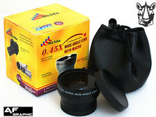 Z4 40.5mm HD 0.45x Super Wide Angle Lens with Macro for Camcorder Camera Lenses