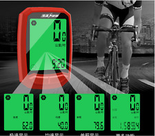 Wireless LCD Waterproof Cycling Computer Odometer Speedometer Bike Bicycle Cycle