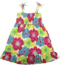 Mini Boden girls cotton flower print multi colour sun dress  summer age 2-6years