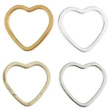 20pcs Alloy Heart Shape Ring Pendants Charms Findings for Jewelry Making Craft