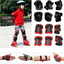 Kid 6pcs Roller Skating Scooter Cycling Knee Elbow Wrist Protective Gear Pads