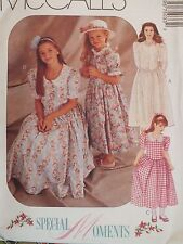 Amazing OOP McCALLS 7503 Girls Special Moments Dresses PATTERN 4-5-6/7-8-10 UC