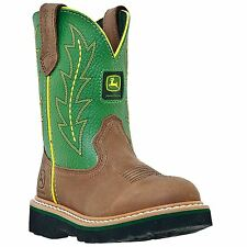 John Deere Youth Leather Johnny Popper Youth Tan - Green (JD3186)