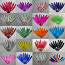 Wholesale 50-500pcs Beautiful natural goose feather 4-6 inches / 10-15cm 27Color