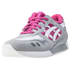 Asics Onitsuka Tiger Gel-lyte Iii Gs Kids Trainers Grey Pink New Shoes