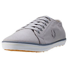 Fred Perry Kingston Twill Womens Trainers Silver New Shoes