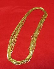 WHOLESALE LOTS FROM 5-144  PCS OF 14KT GOLD EP 16 INCH  1MM COBRA NECKLACES